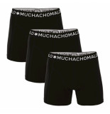 Muchachomalo 3-pack boys short solid/solid/solid zwart