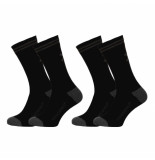 Muchachomalo 2-pack solid socks long zwart