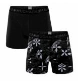 Muchachomalo Boys 2-pack shorts reptile zwart