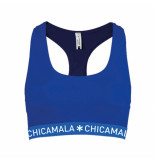 Muchachomalo Women racer back solid blauw