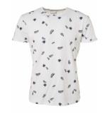 No Excess T-shirt s/sl, r-neck, ao printed je white ecru