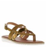 BTMR Dames sandalen whiskey beige