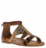 Tube Dames sandalen leopard beige