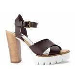 Taft Footwear Sandalen op hak bruin