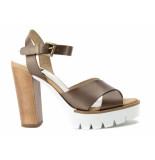 Taft Footwear Sandalen high heels brons bruin