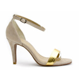 Tube Sandalen high heels nat. beige