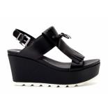 Tosca Blu Sandalen sleehak zwart