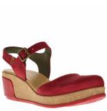 El Naturalista Dames sandalen op sleehak rood
