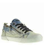 Yellow Cab Dames veterschoenen -blauw wit