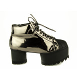 Jeffrey Campbell Veterschoen plato metallic beige