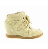 Taft Footwear Halfhoge veterschoen beige