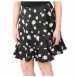 Kenzo Soft ruffled skirt zwart