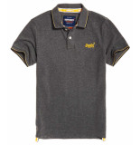 Superdry Classic poolside pique polo black/grey marl grijs