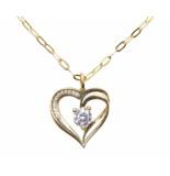 Christian Gouden ketting met hart hanger geel goud