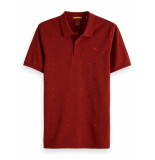 Scotch & Soda Classic garment-dyed pique polo rood