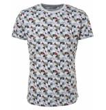 No Excess T-shirt s/sl, r-neck, ao printed, i chalk blauw