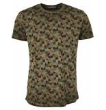 No Excess T-shirt s/sl, r-neck, ao printed, i dk army bruin