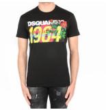 Dsquared2 2 t-shirt zwart