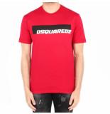 Dsquared2 2 t-shirt rood