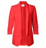YAYA – blazer linen drape sleeves rood
