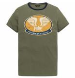 PME Legend Ptss193522 6414 short sleeve r-neck single jersey dusty olive groen