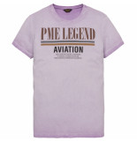 PME Legend Ptss193513 4243 short sleeve r-neck single jersey tshirt viola rood