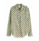 Maison Scotch 149789 0588 oversized boxy fit cotton viscose shirt in various prints groen