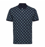 Selected Homme Miami ss polo - blauw