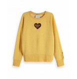 Maison Scotch Relaxed fit sweat geel