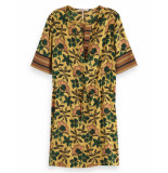 Maison Scotch Mixed dress geel