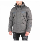 Krakatau Short down jacket strofo grijs