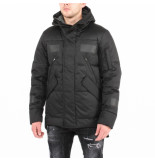 Krakatau Short down jacket strofo zwart