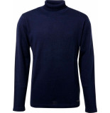 No Excess Pullover roll neck, 2 colour twiste navy blauw
