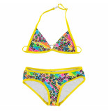 Just Beach Gele kinder bikini paris star multi color geel