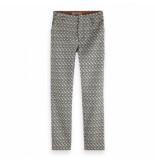 Maison Scotch Tailored pants jacqaurd grijs