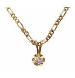 Christian Gouden ketting met diamant hanger