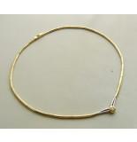 Christian Bicolor gouden collier met diamant