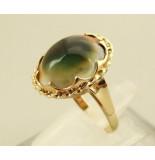 Christian Gouden ring met matabia steen