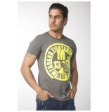 My Brand Fighters yellow logo t-shirt grijs