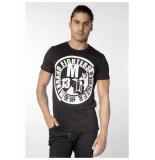 My Brand Fighters white logo t-shirt zwart
