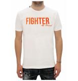 My Brand Fighter t-shirt wit/ oranje