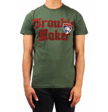 My Brand Trouble panther badge t-shirt legergroen army