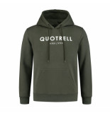 Quotrell Hoodie – army/wit
