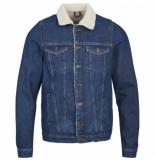 Just Junkies Rolf fur raw jacket – blauw denim