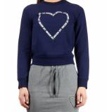 Love Moschino Love moschino logo core sweat – blauw