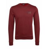EA7 6zpm68 clean sweater – rood bordeaux