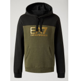 EA7 6zpm38 hoodie – groen/zwart