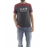 EA7 6zpt19 shirt logo t-shirt – rood bordeaux