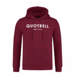 Quotrell Hoodie – rood/wit bordeaux