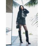 Kendall + Kylie Kendall & kylie ruffle back skirt - zwart